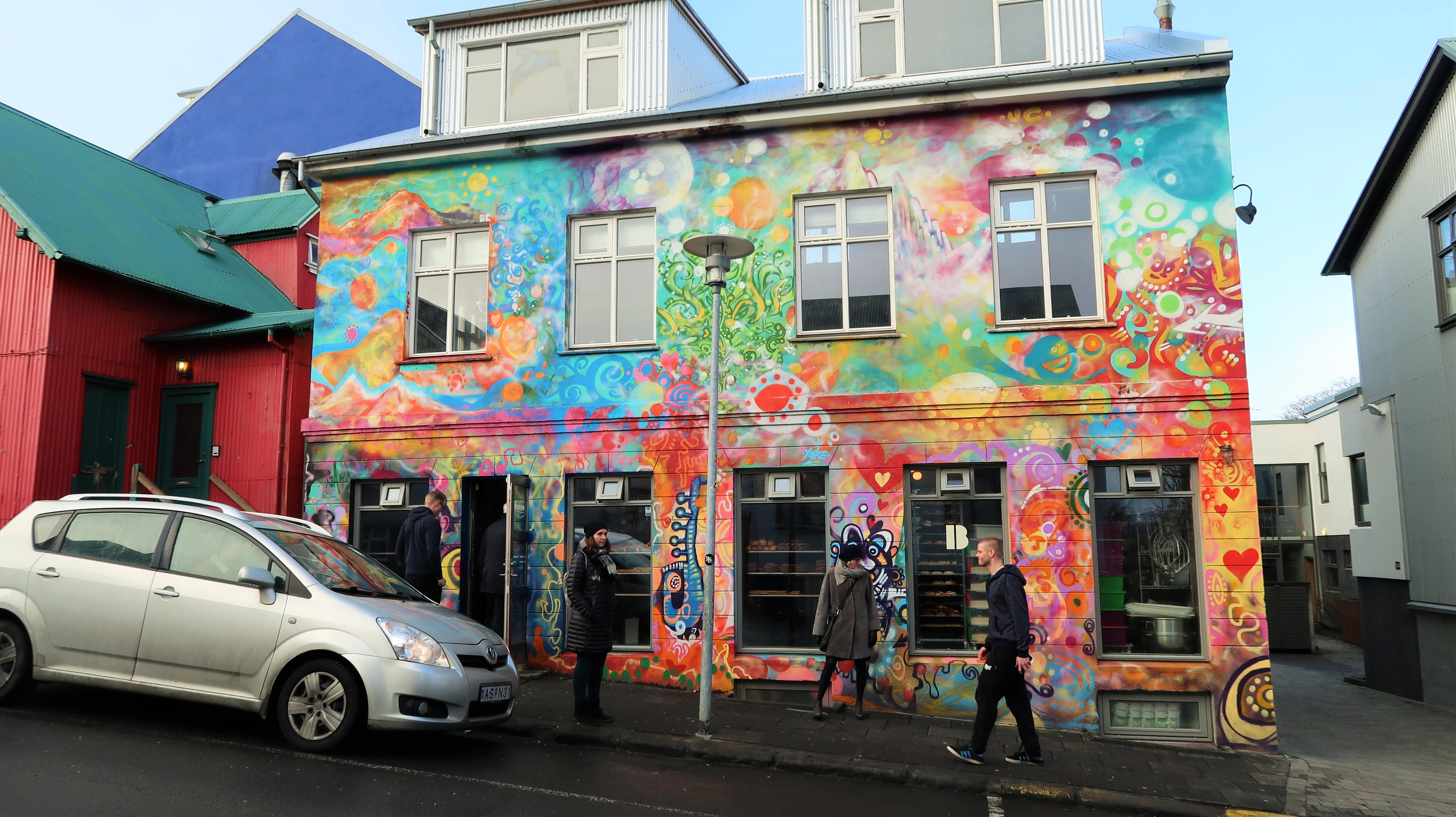 colourful building in Reykjavik
