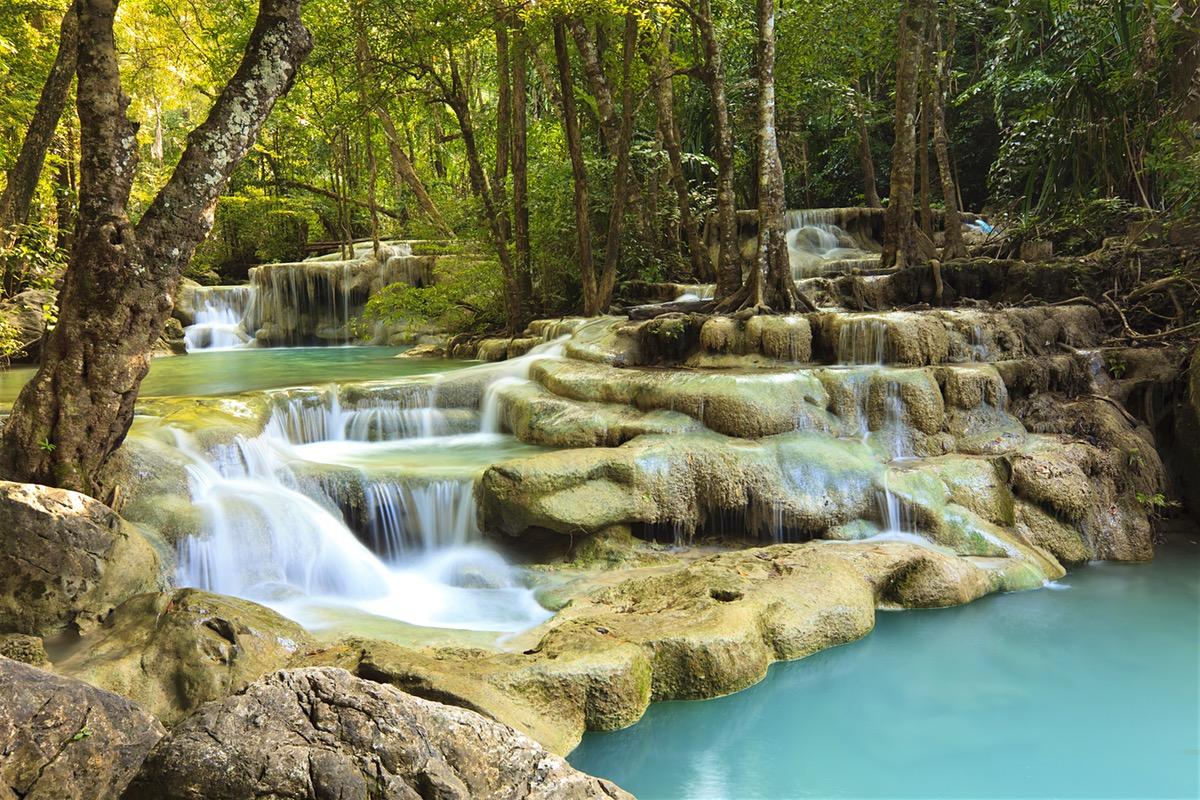 erawan falls Thailand Asia itinerary