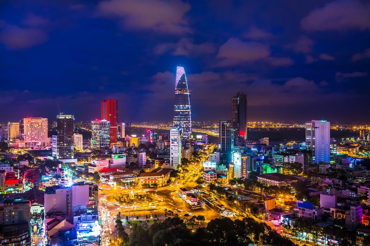 saigon city night view Asia itinerary