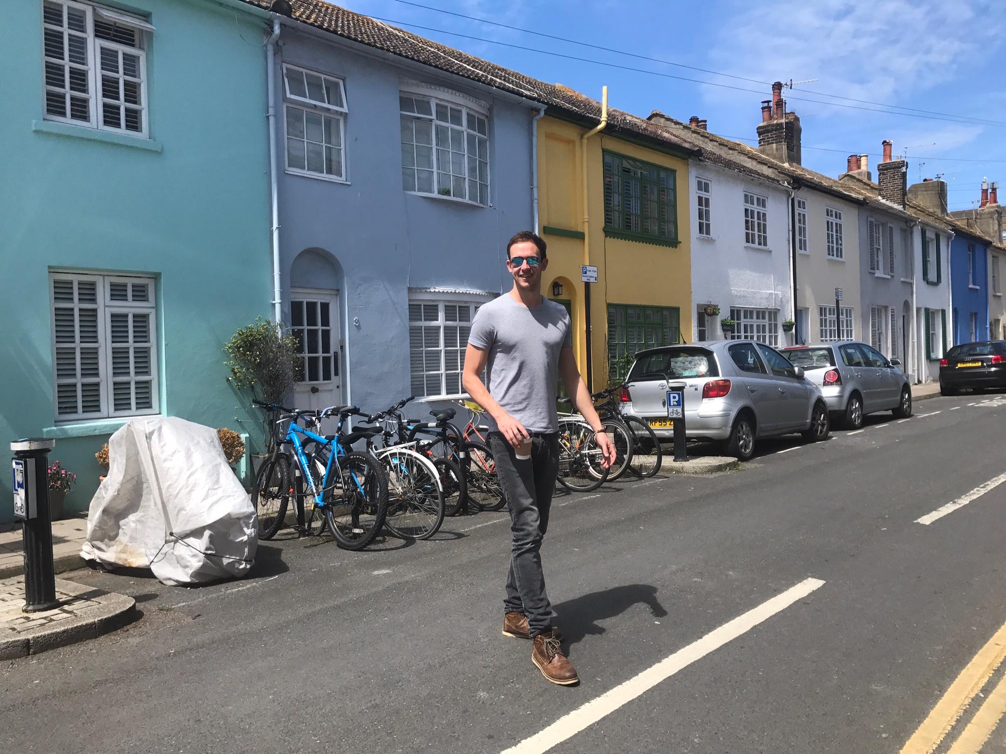 Walking across Brighton north Laine
