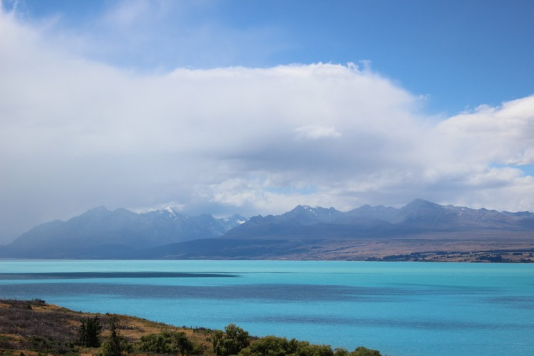 Clouds over Lake Pukaki, Canterbury