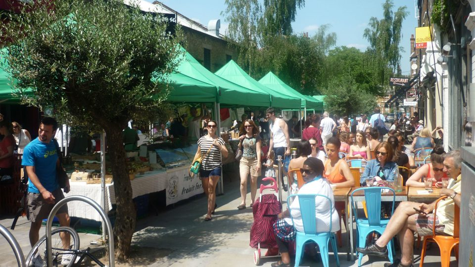 Venn street market in the sun