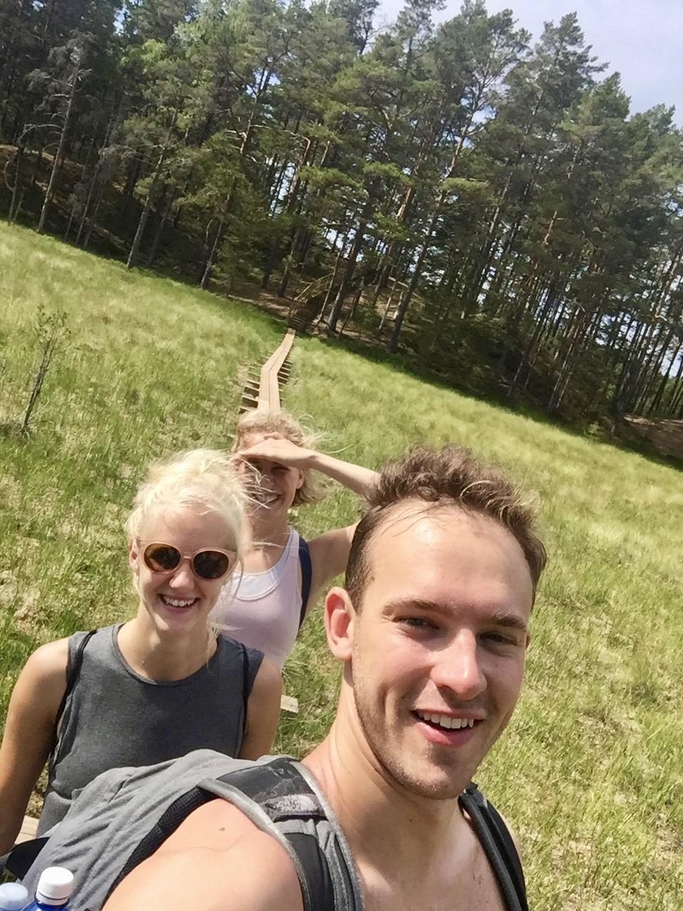 walking on the bog trail