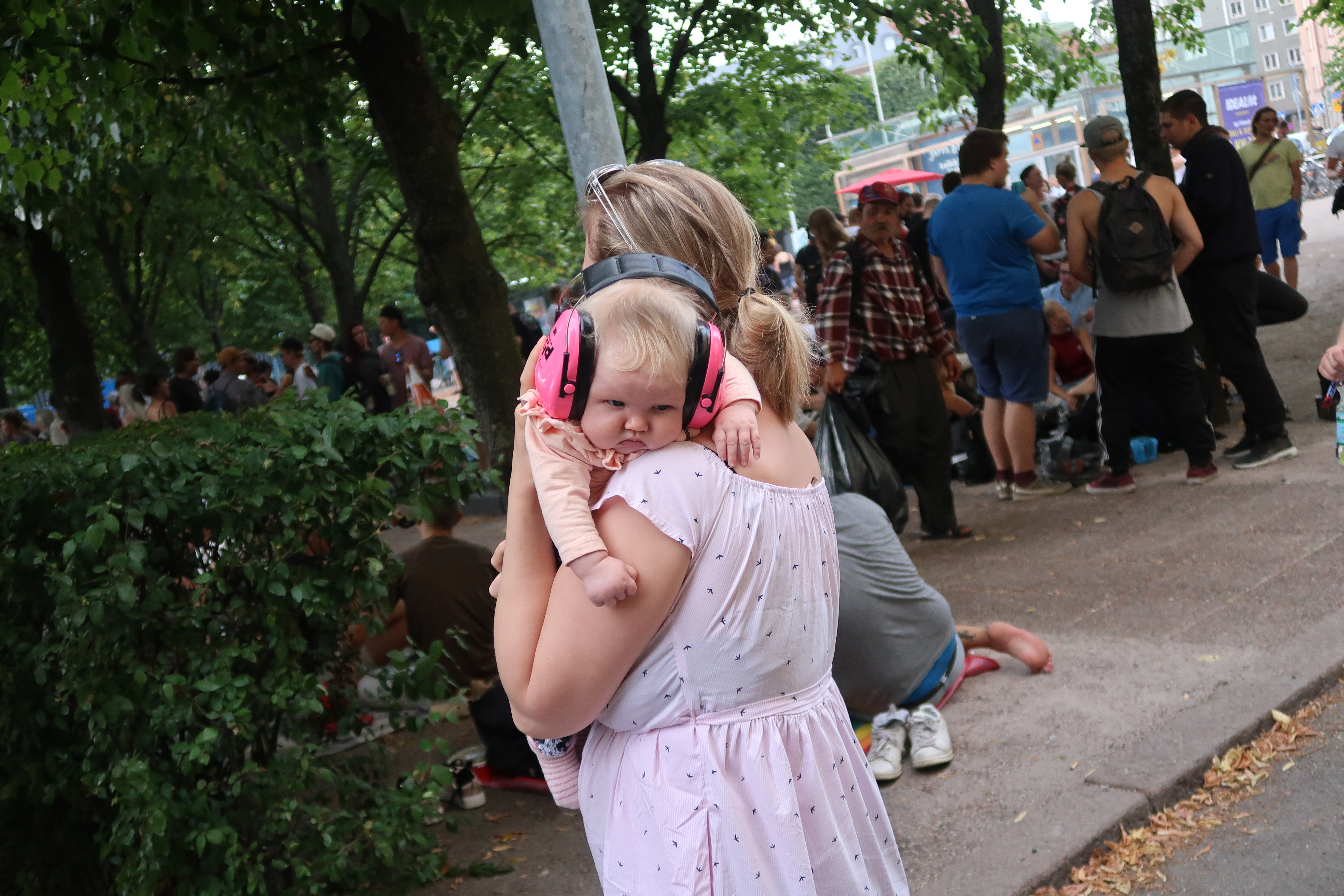 Children are brought to all kinds of events in Helsinki